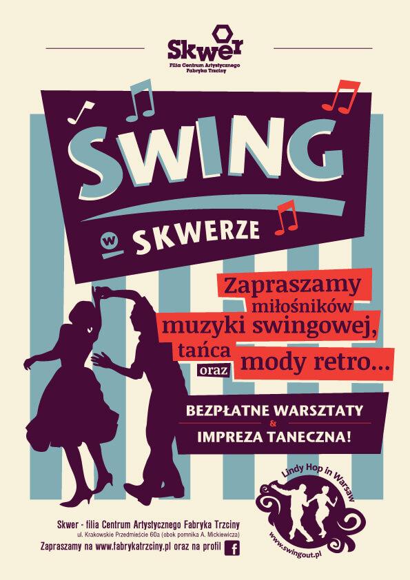 swing w skwerze, ul. Krakowskie Przedmieście 60a