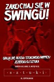 Impreza Muzyka na żywo Sztuki i Sztuczki Lindy Hop Swing