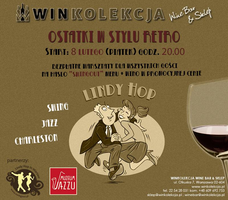 Impreza Swing Lindy Hop Warsztaty w Winkolekcji