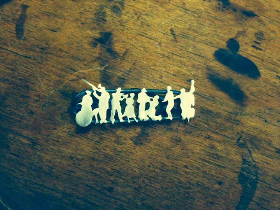 Ręcznie wykonana przez Edytę Byrską spinka do krawata.