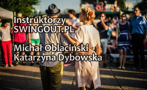 Instruktorzy Lindy Hop - Michał Oblaciński i Katarzyna Dybowska