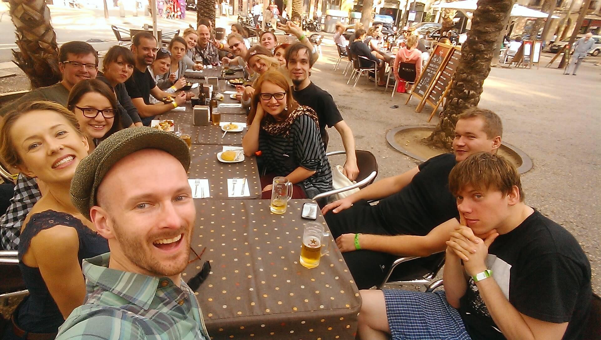 Ekipa SWINGOUT.PL na BCN Shag Festival w Barcelonie. Nie wierzcie w to, co widzicie! Naprawdę dużo tańczyliśmy! :)