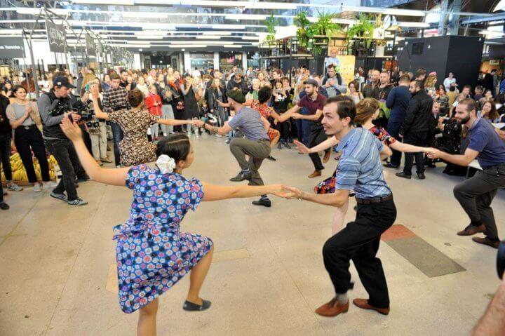 Pokaz tańca swingowego w Hali Gwardii - Warsaw Shag Team