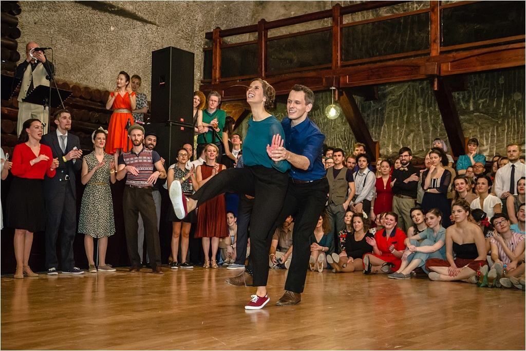 Finał Advanced Lindy Hop Jack and Jill na Dragon Swing w Krakowie.